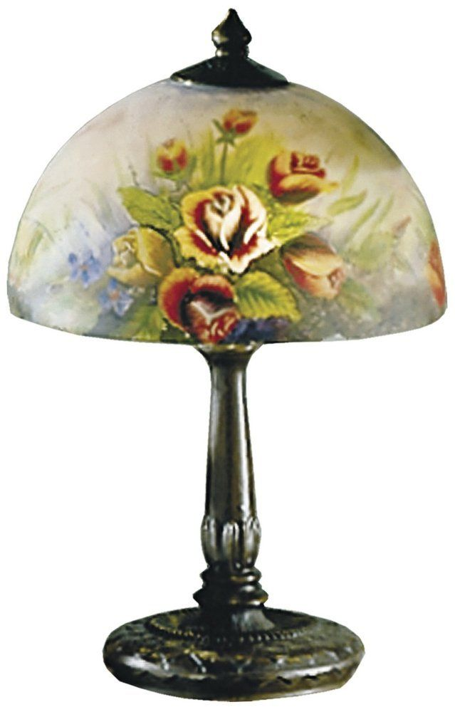 Dale Tiffany 10057 610 2 Light Rose Dome Table Lamp In