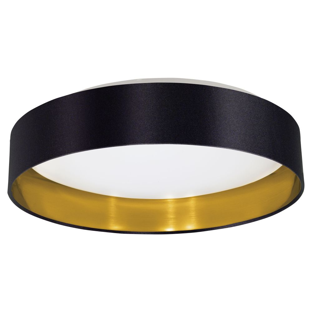 Eglo 31622a maserlo 1 led light flush mount in black for Led deckenleuchte modern