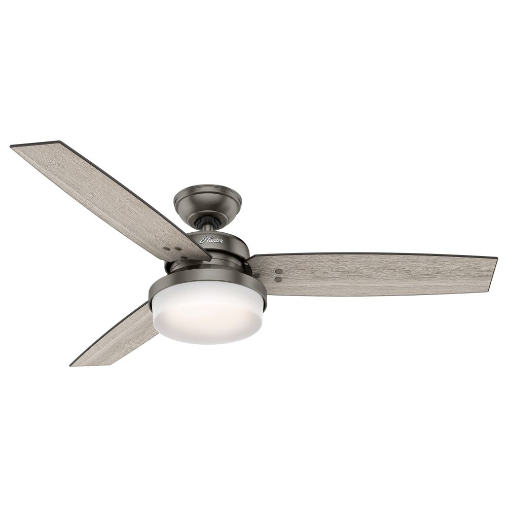 Hunter 59211 Sentinel 52 Inch 2 Led Light Ceiling Fan In