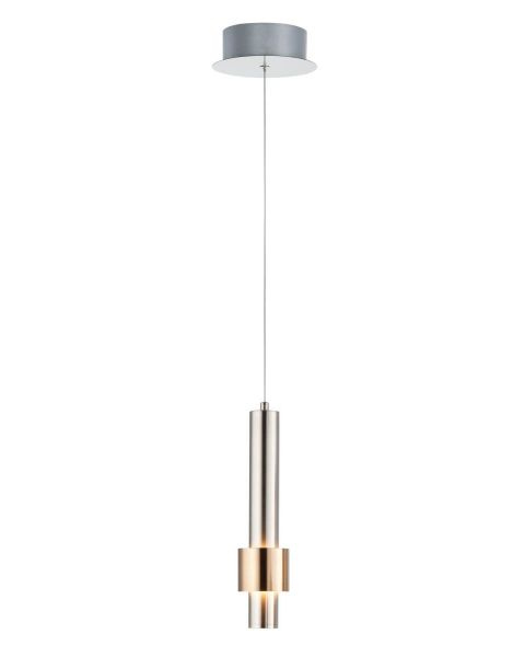 ET2 lighting E24751-SNSBR Reveal 1 Light LED Mini Pendant in Satin Nickel - Satin Brass