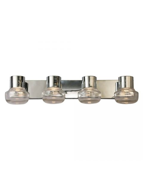Eglo 204453A Belby 4 Light LED Bath Light in Chrome with Clear Glass