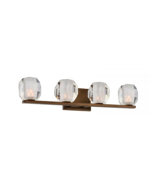 Kalco Lighting 302834VBZ Regent 4 Light LED Bath Light in Vintage Bronze