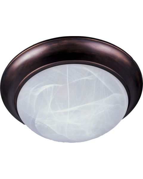 Maxim Lighting 5851MROI Essentials - 585x 2 Light Flush Mount in Oil Rubbed Bronze with Marble Glass