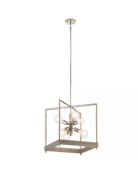 Kichler 52092DAG Tanis 6 Light Foyer Pendant in Distressed Antique Gray