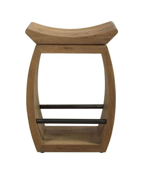 Uttermost 24988 Connor Modern Wood Counter Stool