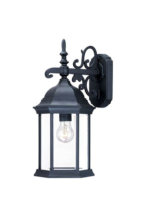 Acclaim Lighting 5184BK Madison 1 Light 17 Inch Tall Outdoor Wall Mount In Matte Black