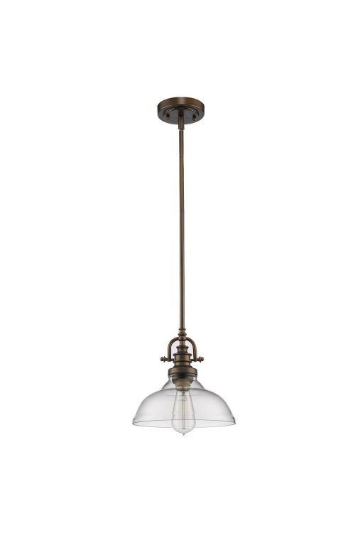 Acclaim Lighting IN21147ORB Virginia 1 Light Mini Pendant In Oil Rubbed Bronze With Glass Shade