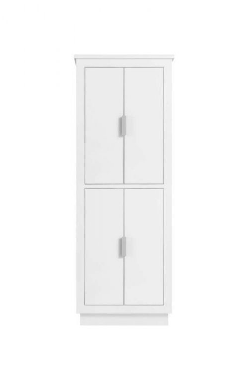Avanity 170512-LT24-WTS Austen 24 inch Linen Tower in White with Silver Trim