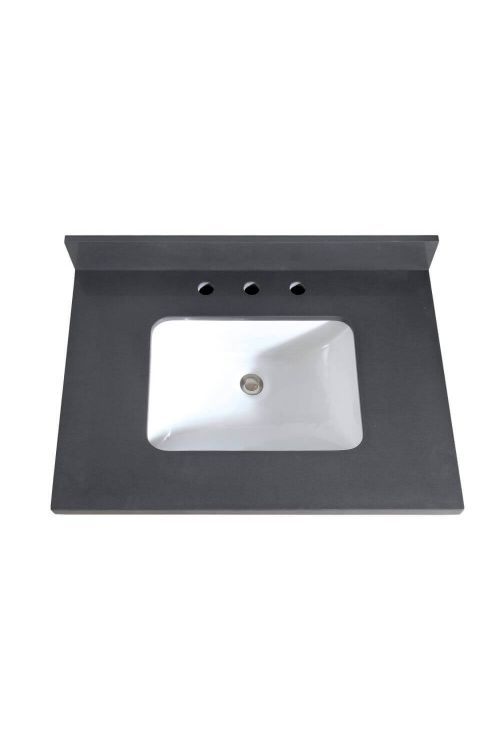Avanity VUT31GQ-R 31 Inch Rectangular Vanity Top Undermount Sink In Gray Quartz