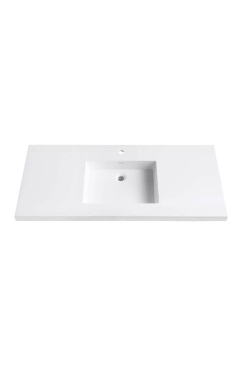 Avanity VUT49WT VersaStone 49 Inch Solid Surface Vanity Top With Integrated Bowl In Matte