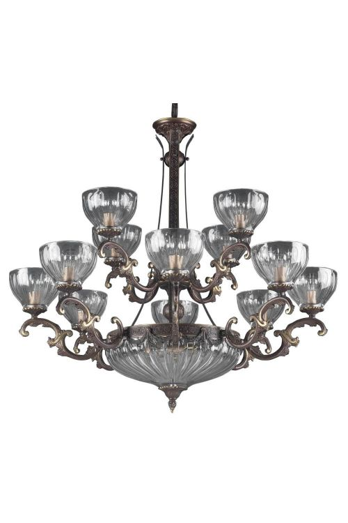 Classic Lighting 55438 RB Warsaw 14 Light Chandelier In Roman Bronze
