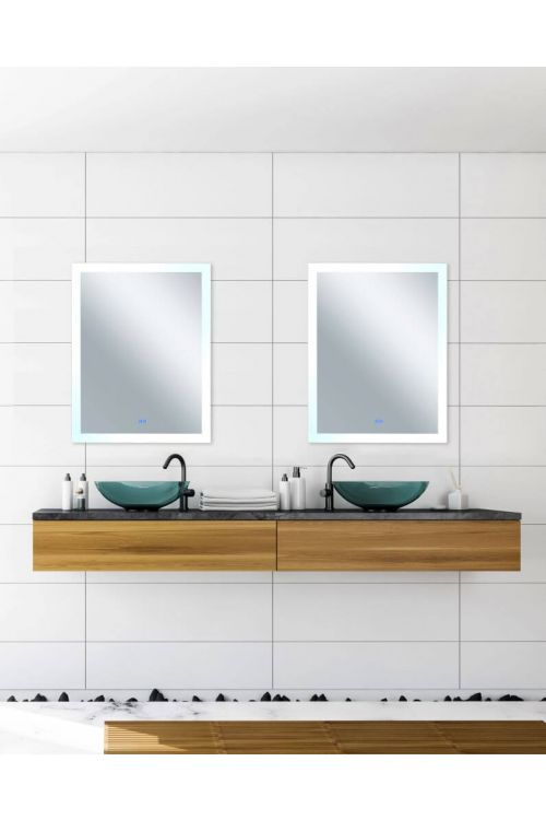 CWI Lighting 1233W32-40 Abigail Rectangle 32 inch LED Mirror in Matte White