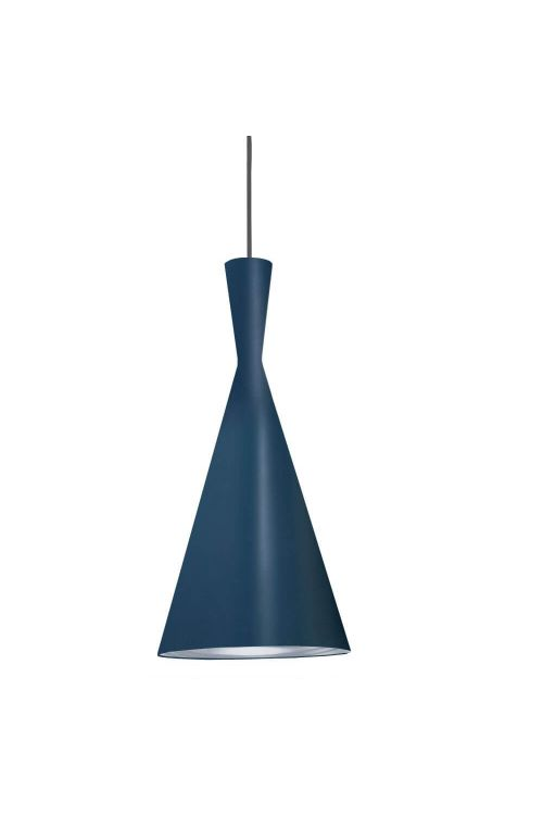 Dainolite HKI-81P-BL-SV Helsinki 1 Light Pendant in Blue with Silver Pebbled Interior