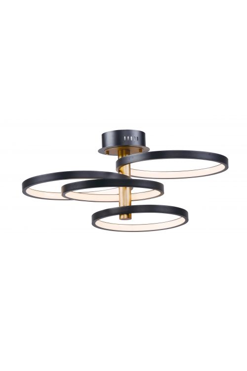 ET2 lighting E24324-BKGLD Hoopla 4 Light 34 Inch LED Pendant In Black-Gold