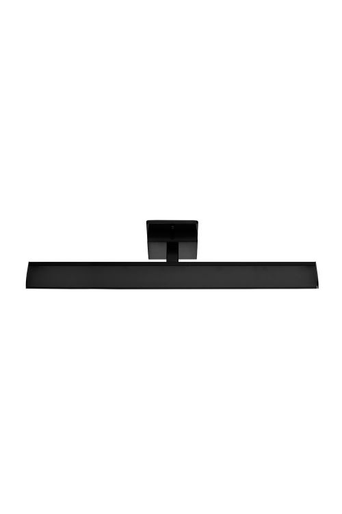 Eglo 202075A Tabiano 1 LED Bath-Vanity Light In Matte Black With White Shade