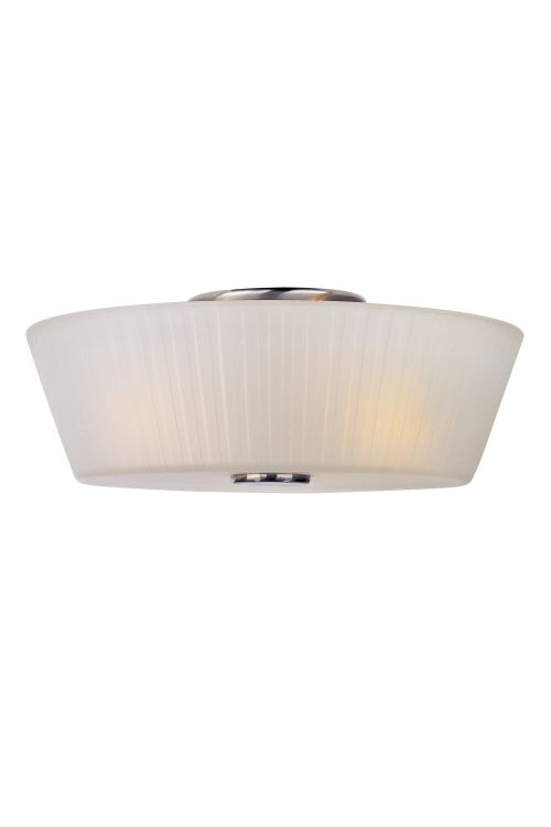 Maxim Lighting 21500FTSN Finesse 3 Light Flush Mount In Satin Nickel With Frosted Glass Shade