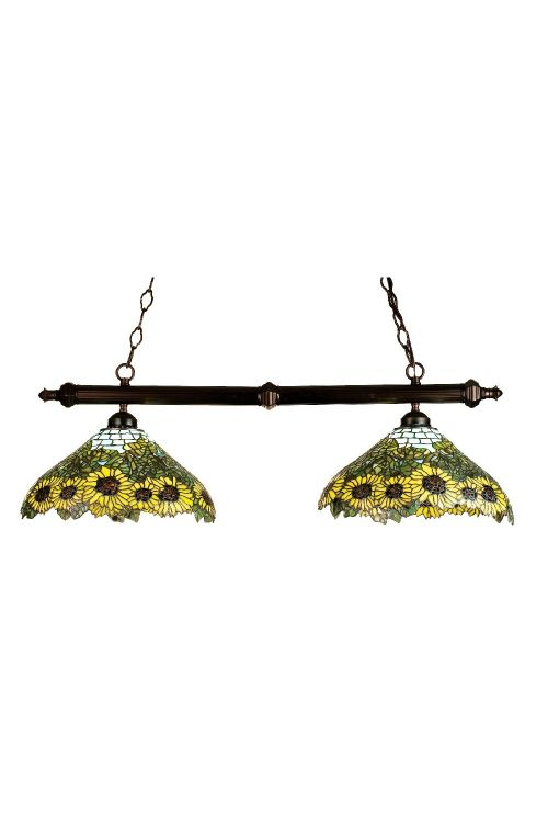 Meyda Tiffany 18845 Wild Sunflower 2 Billiard / Island Lighting