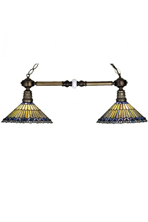 Meyda Tiffany 27411 Tiffany Jeweled Peacock 2 Billiard / Island Lighting