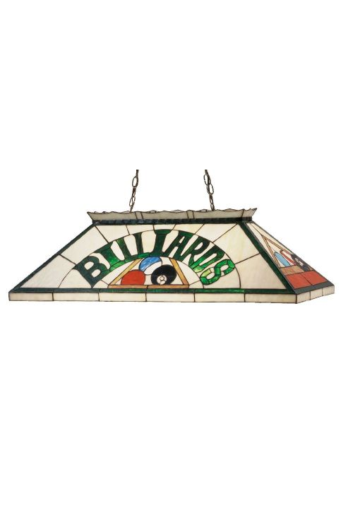 Meyda Tiffany 47976 Billiard and Rack 6 Oblong Billiard-Island Lighting