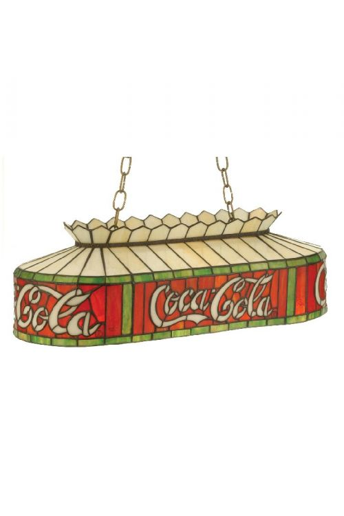 Meyda Tiffany 74069 Coca-Cola 2 Oblong Billiard / Island Lighting
