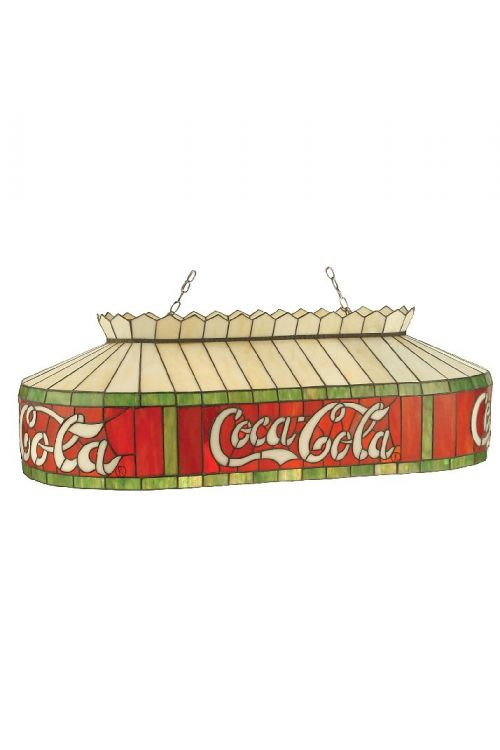 Meyda Tiffany 98072 Coca-Cola 6 Oblong Billiard / Island Lighting