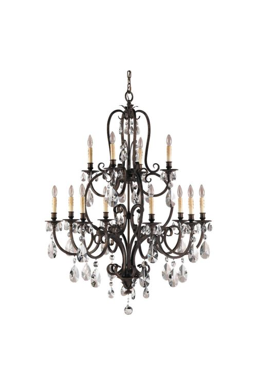 Murray Feiss F2229/8+4ATS Salon Maison 12 Light Multi Tier Chandelier In Aged Tortoise Shell