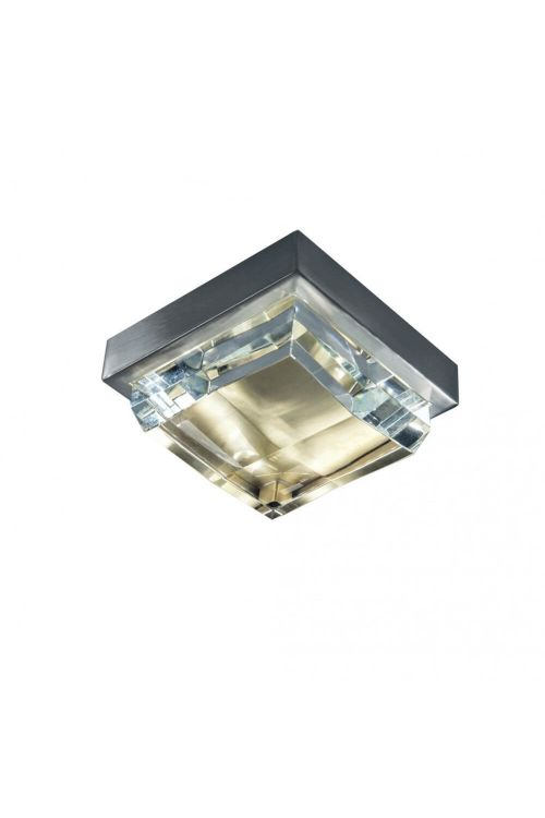Norwell Lighting 5379-BNSB-CL Crystal LED Crystal Mini Flush Mount in Brushed Nickel - Satin Brass with Clear Glass Crystal