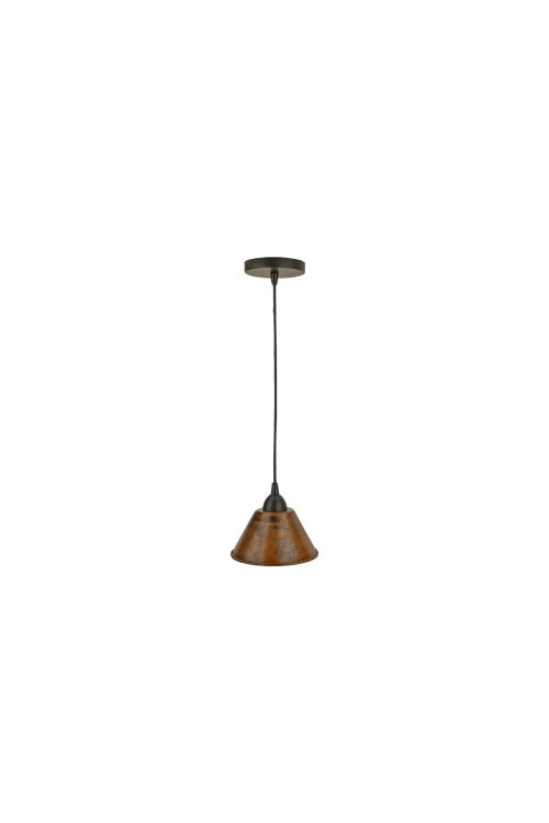 Premier Copper Products L300DB Hand Hammered Copper 7 Inch Cone Pendant Light In Oil Rubbed Bronze