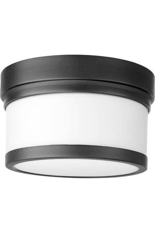 Quorum International 3509-9-69 Celeste 1 Light Flush Mount in Noir with Satin Opal Glass