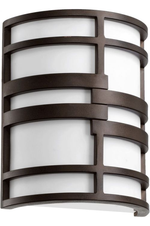 Quorum International 5202-86 Solo 2 Light Wall Sconce In Oiled Bronze With White Shade
