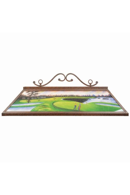RAM Game Room RP 48 GOLF 48 Inch 4 Billiard Light In Hand Painted