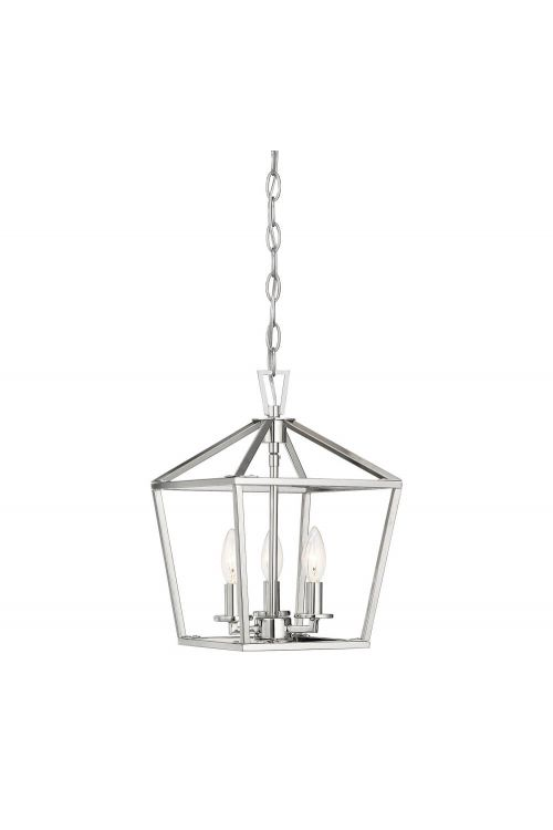 Savoy House 3-320-3-109 Townsend 3 Light 10 Inch Foyer Pendant in Polished Nickel