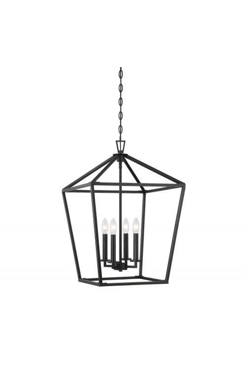 Savoy House 3-321-4-44 Townsend 4 Light 17 Inch Foyer Pendant in Classic Bronze