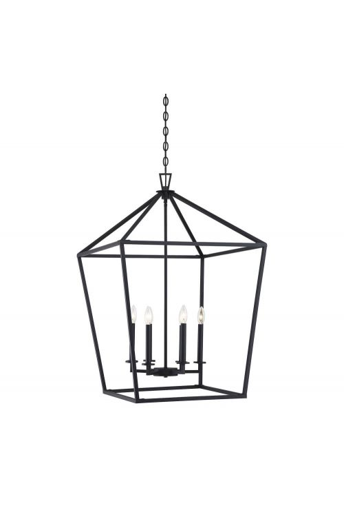 Savoy House 3-322-6-89 Townsend 6 Light 24 Inch Foyer Pendant in Matte Black