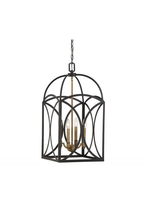 Savoy House 3-4081-4-79 Talbot 4 Light 14 Inch Medium Foyer Pendant In EEnglish Bronze-Warm Brass