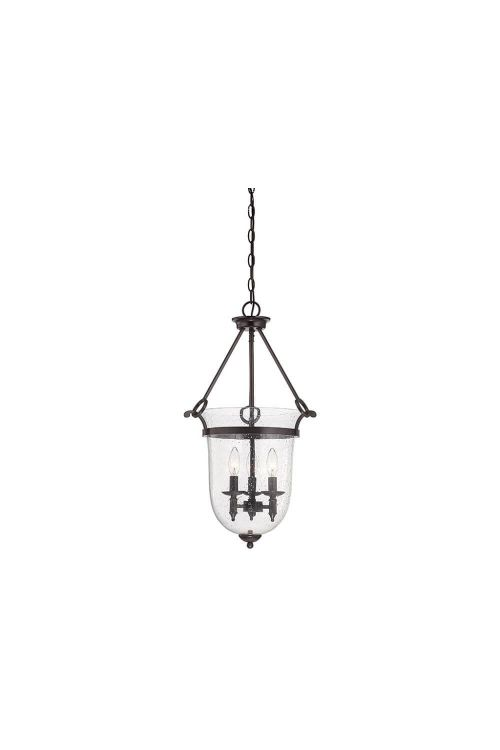 Savoy House 3-7132-3-13 Trudy 3 Light 16 Inch Foyer Pendant English Bronze With Seeded Glass
