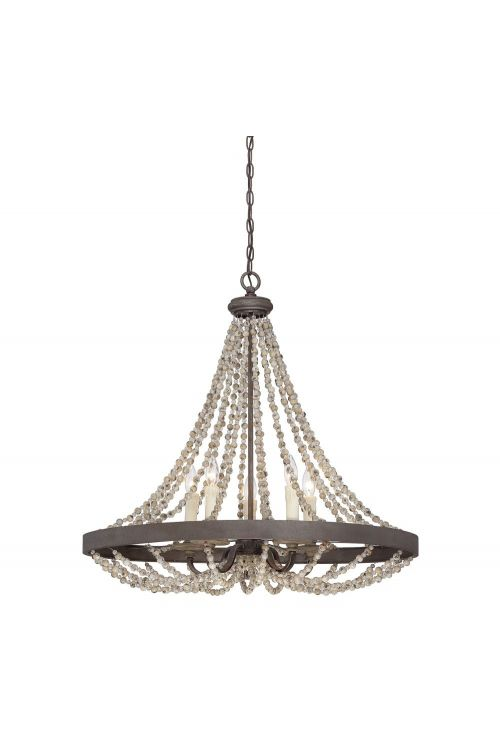Savoy House 7-7406-5-39 Mallory 5 Light 30 Inch Pendant In Fossil Stone