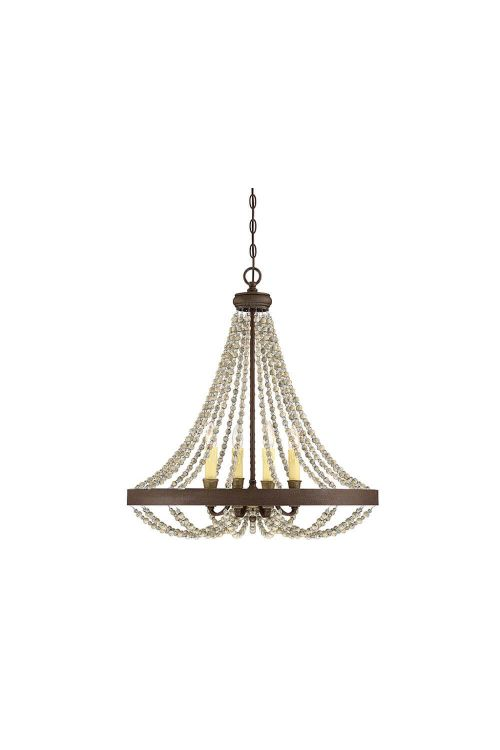 Savoy House 7-7408-4-39 Mallory 4 Light 26 Inch Pendant In Fossil Stone