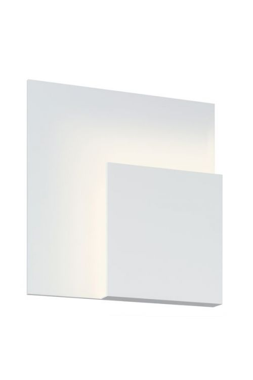 Sonneman 2369.98 Corner Eclipse LED Wall Sconce In Textured White With Textured White Shade