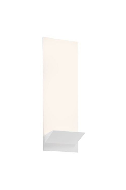 Sonneman 2371.98 Panel Wedge LED Wall Sconce In Textured White With Textured White Shade