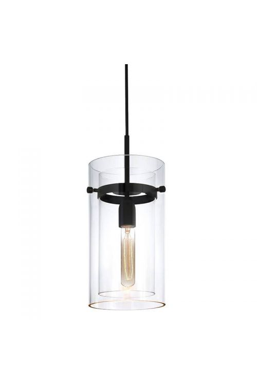 Sonneman 4011.25C Bleecker Street Pendant In Satin Black