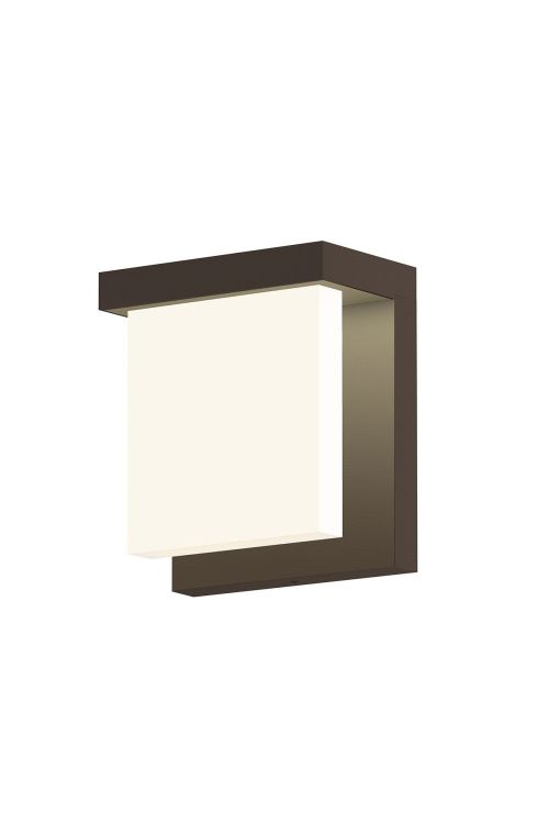 Sonneman 7275.72-WL Glass Glow 1 Light LED Wall Sconce In Textured Bronze With Clear Shade