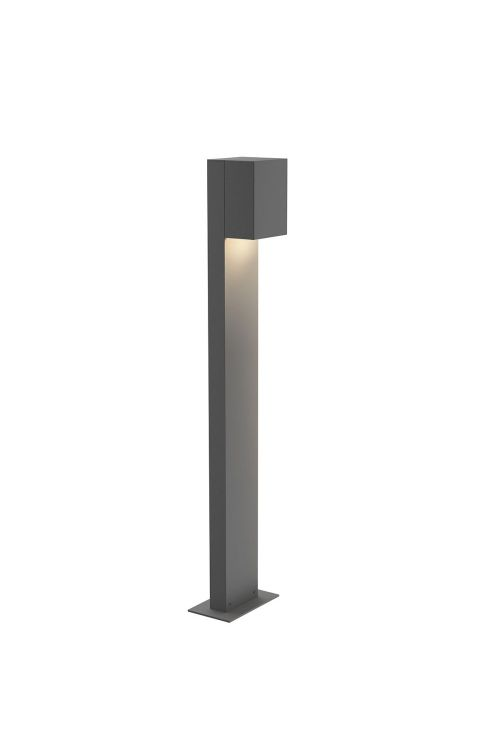 Sonneman 7343.74-WL Box 1 Light 28 Inch LED Bollard In Textured Gray With Textured Gray Shade