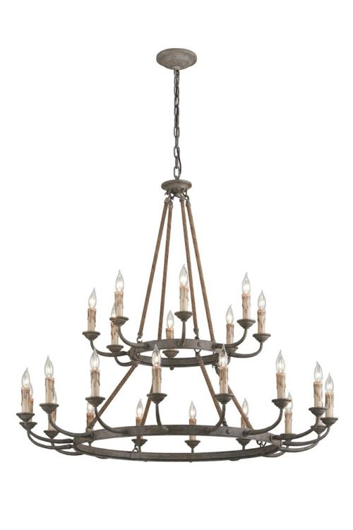 Troy Lighting F6118 Cyrano 24 Light Chandelier In Earthen Bronze
