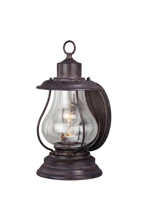 Vaxcel Lighting T0215-PAR Dockside 1 Light Outdoor Wall Sconce in Weathered Patina