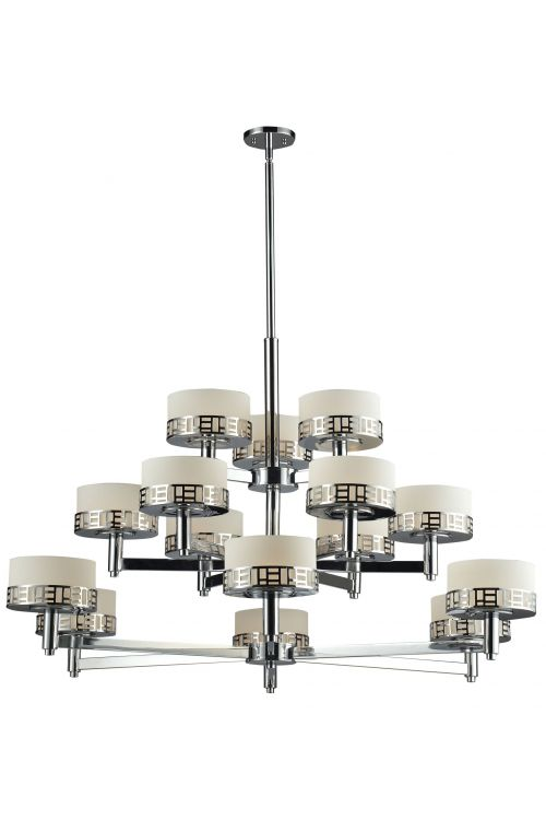 Z-Lite 328-15-CH Elea 15 Lights Chandeliers In Chrome