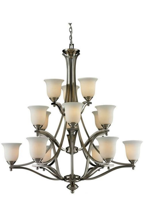 Z-Lite 704-15-BN Lagoon Fifteen Light Chandelier In Brushed Nickel
