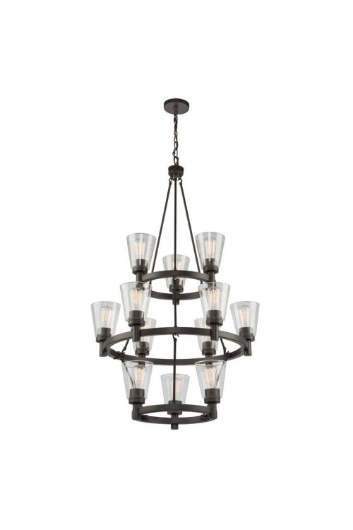 Artcraft AC10762 Clarence 12 Light Chandelier