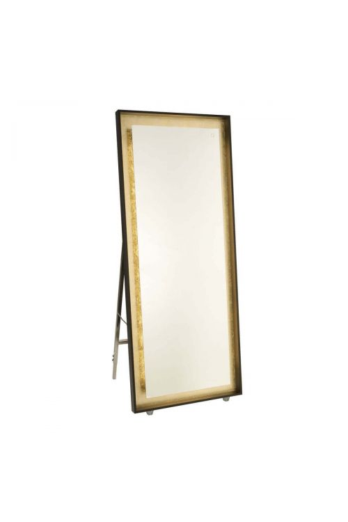 Artcraft AM314 Reflections 1 Light LED Mirror in Oil Rubbed Bronze-Gold Leaf