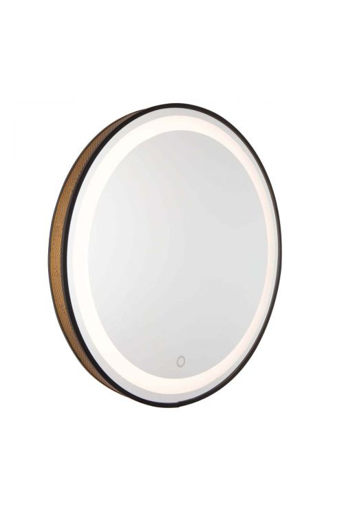Artcraft AM315 Reflections 1 Light LED Mirror in Matte Black-Gold